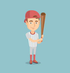 Baseball player with a bat vector