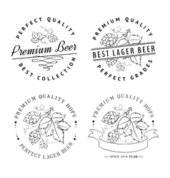 Beer emblems and labels vector