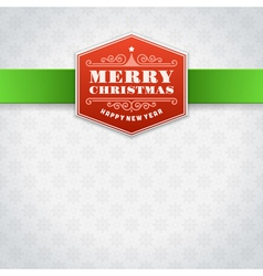 Christmas label or invitation card background vector image vector image