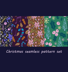 christmas seamless pattern with fir tree vector image