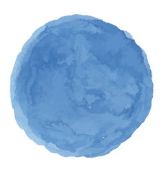 Delicate dark blue watercolor painted stain vector