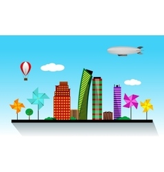 Eco-city day vector
