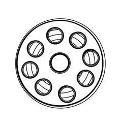film tape reel icon image vector image