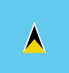 Flag saint lucia flat icon vector