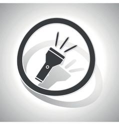 Flashlight sign sticker curved vector