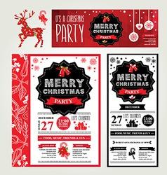 Invitations merry christmas vector