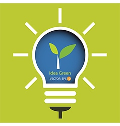 lamp of idea green concept vector image vector image