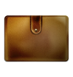 leather purse vector image vector image