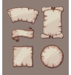 medieval retro Yellowish Blank Scrolls vector image vector image