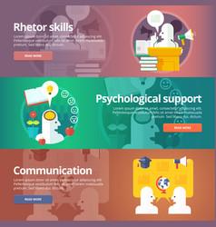 orator skills psychological support art of vector image