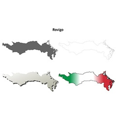 Rovigo blank detailed outline map set vector
