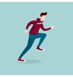 Running man the man on the run isolated cartoon vector