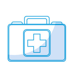 Shadow medical bag cartoon vector