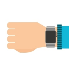 smartwatch wrist wearable icon vector image