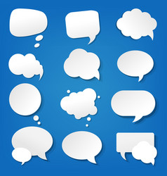 speech bubble collection vector image vector image