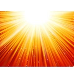 Sunburst rays of sunlight tenplate EPS 10 vector image