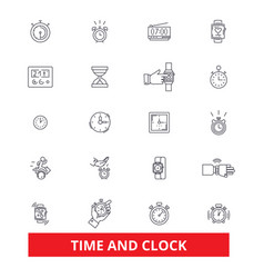 Time clock punch management watchcalendar vector
