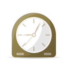 vintage analog clock icon vector image vector image