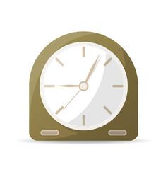 Vintage analog clock icon vector