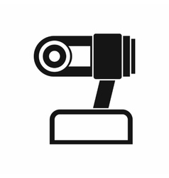 Webcam icon simple style vector
