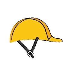 Worker helmet equipment vector