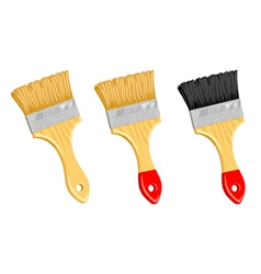 Clean paint brush on white background vector