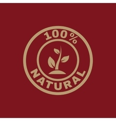The 100 percent natural icon eco and bio ecology vector