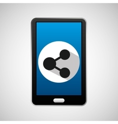Mobile phone app sharing icon vector