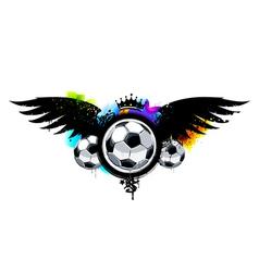 Graffiti image with balls vector image