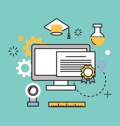 education school web outline vector image