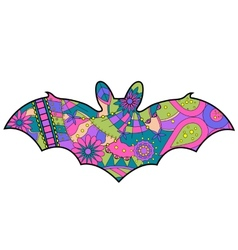 Colorful bat vector