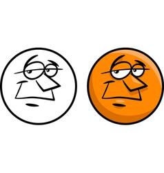 character face cartoon vector image