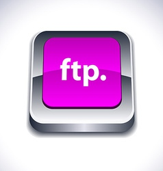 Ftp 3d button vector