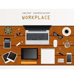Working place in flat design constructor of your vector