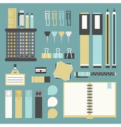 office and school supplies icon set vector image