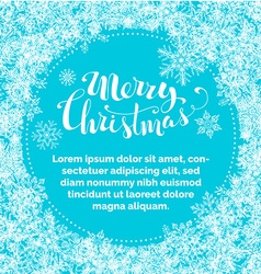 Blue merry christmas background vector