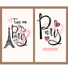 Paris labels vector