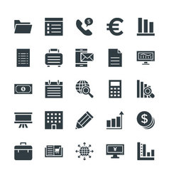 Business cool icons 3 vector