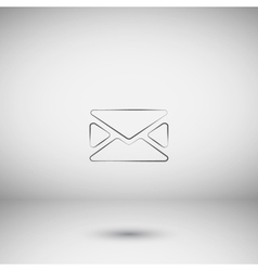 Flat style icon of envelope e-mail vector