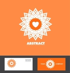 Abstract orange flower logo icon vector