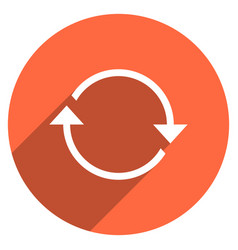 Arrow sign refresh icon circle button vector