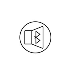 Bluetooth volume icon vector