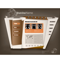 business website design template vector image