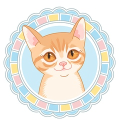 cartoon little cat vector image