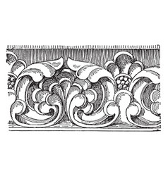 Carved band from the front of sens cathedral vector