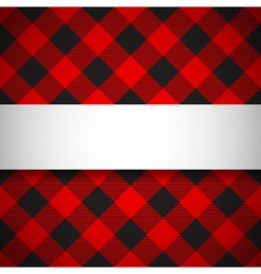 Classic tilted lumberjack plaid pattern vector