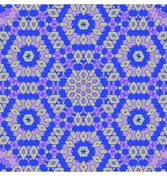 Creative Ornamental Blue Pattern vector image vector image