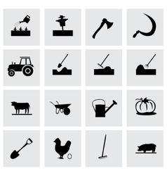 farming icon set vector image
