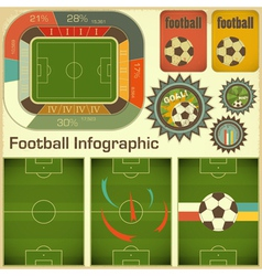 Football Infographic Elements vector image vector image