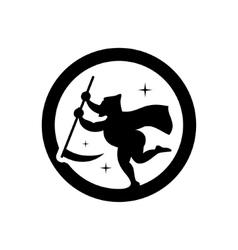 Halloween Death emblem Cartoon vector image vector image